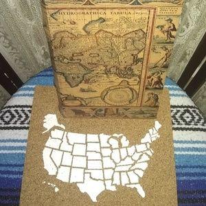 MADELCAR BOOK SAFE BOX MAPA MUNDI BROWN